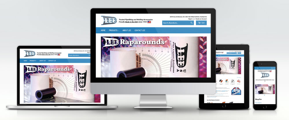 RE LEe Co Website on Four Devices