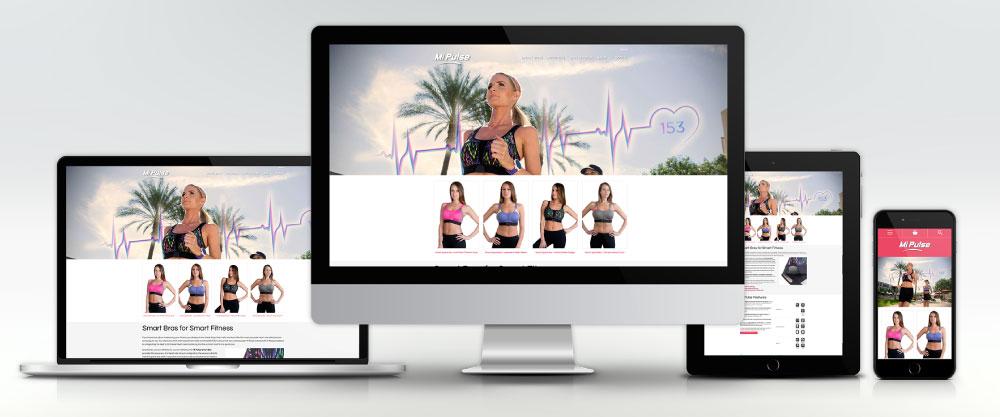 Mi Pulse Website on Four Devices