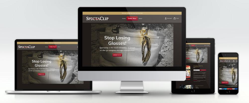SpectaClip.com Website on Four Devices